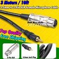 3m 3 Pin XLR Female to 3.5mm Plug Computer Condenser Recording Studio Microphone Audio Mixer Dynamic Mic Cable Wire Cord PC Cabo
