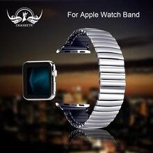 Эластичный ремешок Нержавеющая сталь для наручных часов Apple Watch 38 мм, 42 мм, iWatch, версия 1/2/3/4 подходит для всех версий 40 мм 44 мм металлический ремешок с машинами для детей ремешок петли