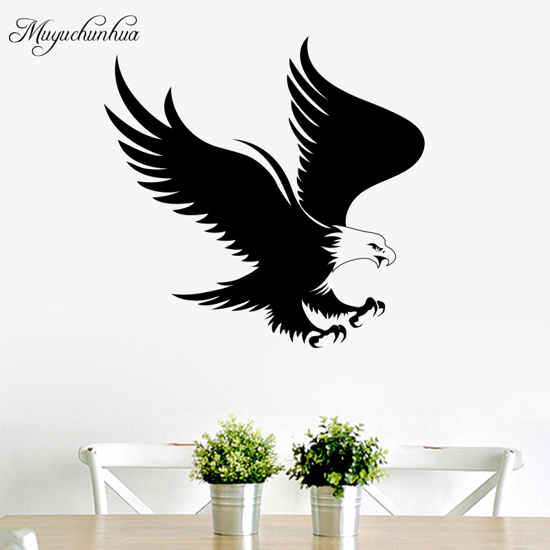 Muyuchunhua Wall Decor Art Vinyl Sticker Eagle Animal Decals for Living Room Bedroom Kids Room Decoration Wall Paper Home Decor