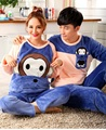 Winter Couple Pajamas Korean Style Long Sleeve Flannel Leisure Wear Man woman Sleep Clothes