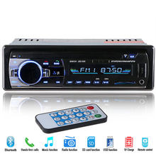12V coche Radio Estéreo reproductor de Audio Bluetooth teléfono AUX-IN MP3/FM/USB/1 Din/Control Remoto Autoradio(China)
