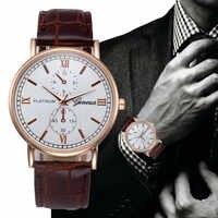 op Brand Luxury Watches Men Geneva Stainless Steel Ultra Thin Watches Men Classic Quartz Men's Wrist Watch Relogio Masculino &Ff