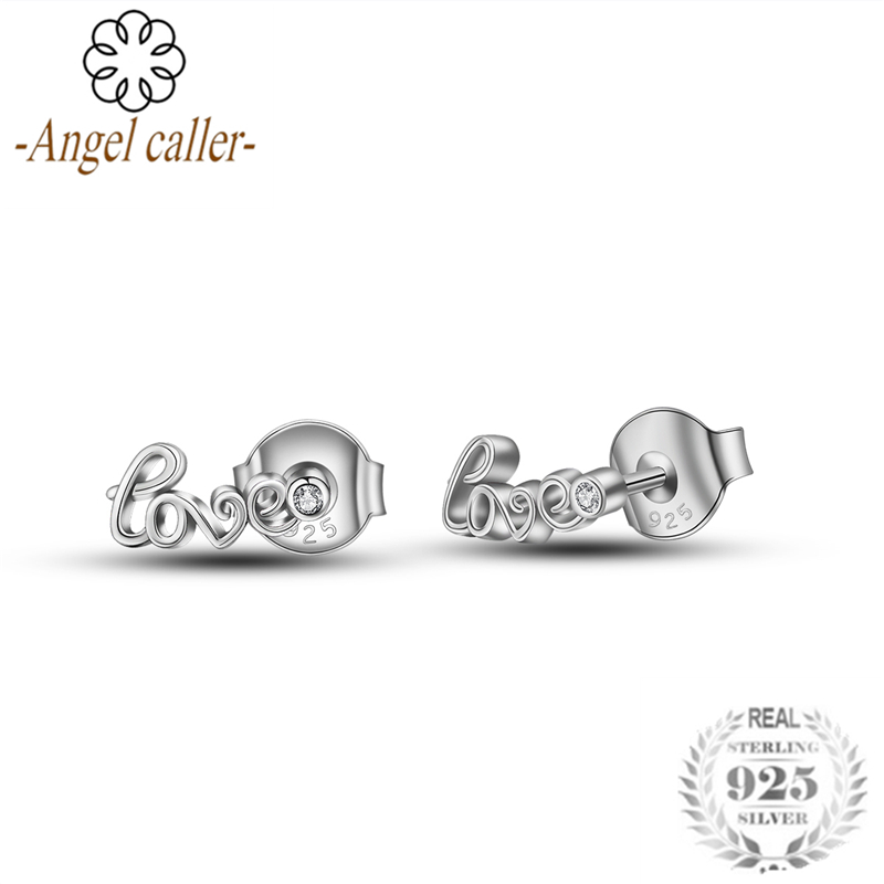Angel Caller 2019 New Style 925 Sterling Silver Love Surround You Cubic Zirconia Two Ways Wearing Earrings Charm Women Jewelry