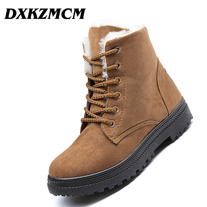 DXKZMCM Women Boots 2018 Women Winter Boots Warm Snow Boots Fashion Ankle Boots For Women Shoes цена