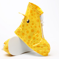 2018 new cartoon childrens rain shoes wear thick thickened boys and girls cartoon outdoor warm slip waterproof shoes 1