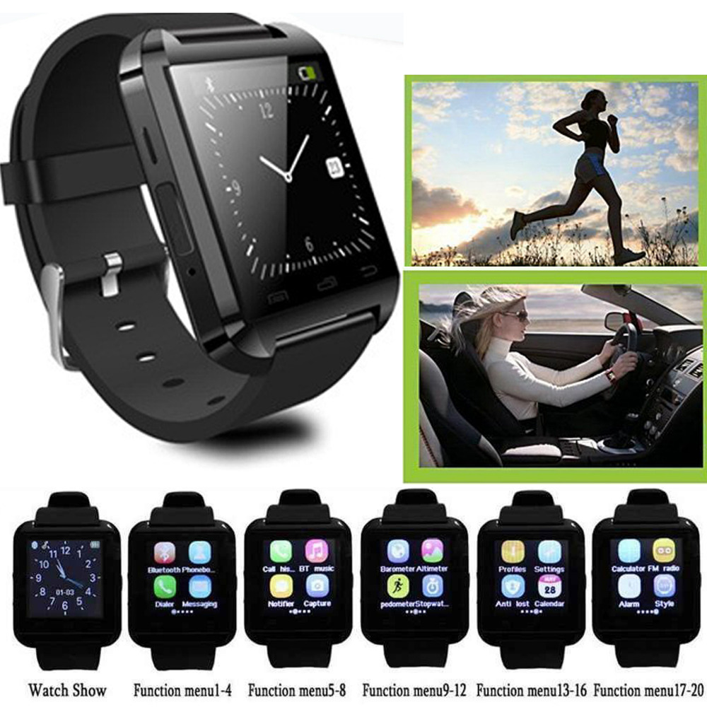 Αθλητισμός Bluetooth U8 καρπό Smart Smart Watch ρολόι για το Android Samsung LG Alcatel Motorola Huawei Smartphones