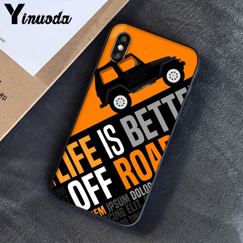 Image 3 - Yinuoda Off road tire track Customer High Quality Phone Case for Apple iPhone 8 7 6 6S Plus X XS MAX 5 5S SE XR Cover-in Half-wrapped Cases from Cellphones & Telecommunications