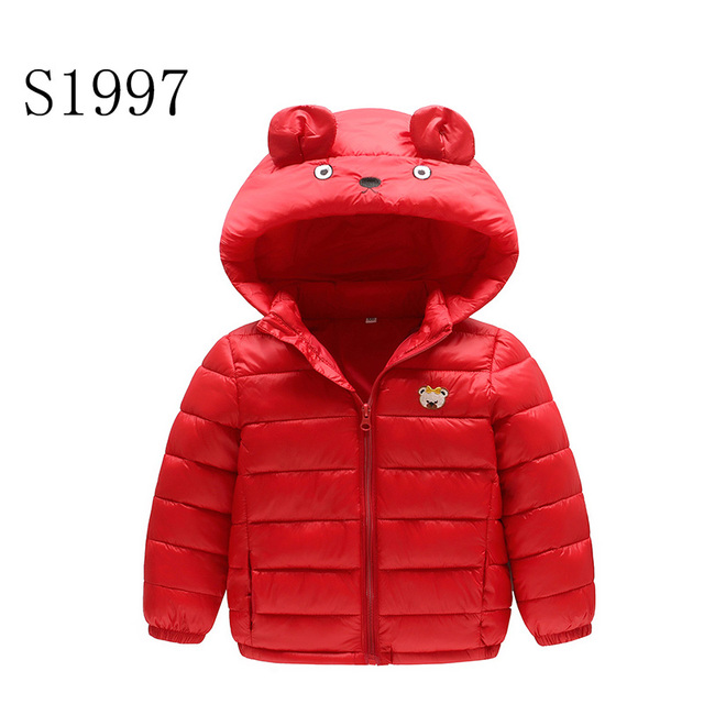 4c98535a8 Fashion Kids Winter Coat Feather Cotton Baby Girls Clothing Jacket Cartoon  Character Zipper Hooded Parkas For 2-8T Kid Hot Sale