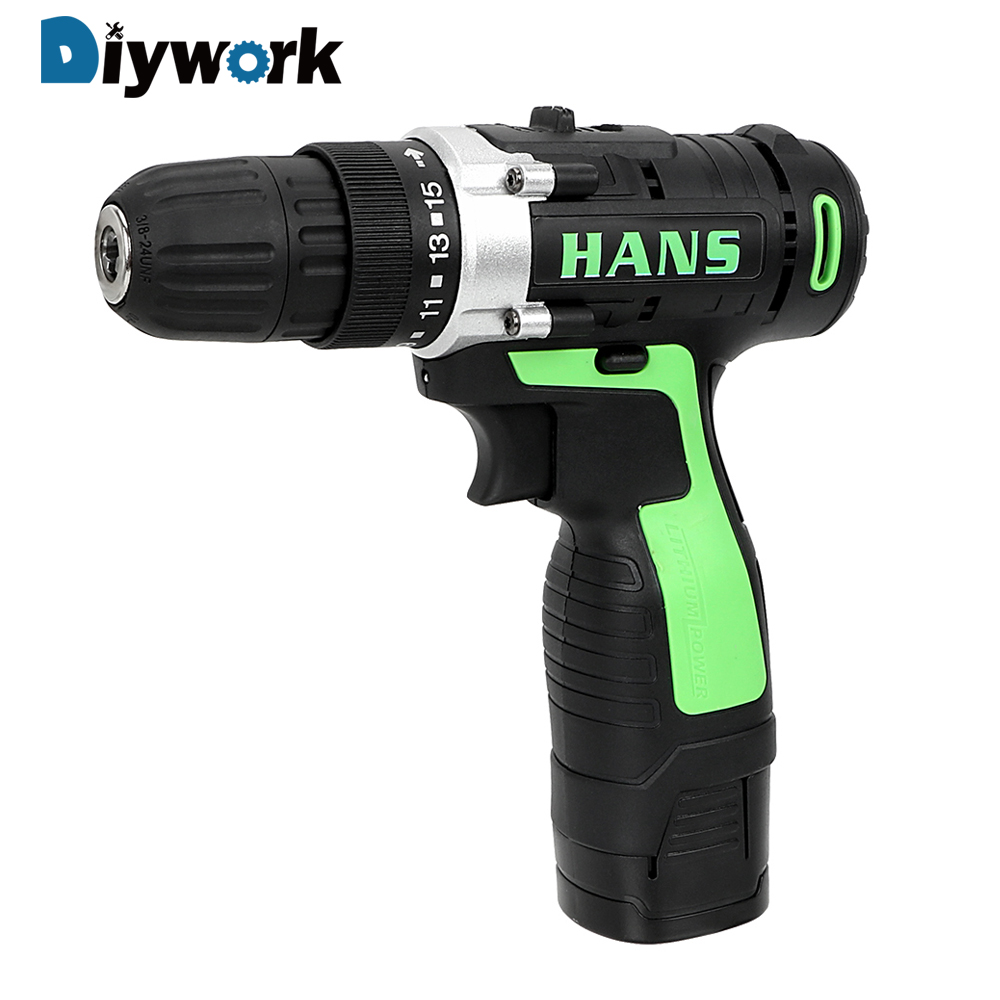 цена на DIYWORK 16.8V Double Speed Power Tools Lithium Battery Charging Electric Drill Electric Screwdriver Perforator Cordless Drill