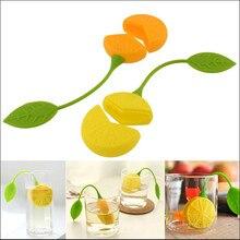 Tea Strainer Silicone Strawberry Lemon Design Loose Tea Leaf