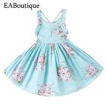 EABoutique enfants robe d'été doux de fleur de mode fille robes unique retour conception pour les filles 1-12 ans