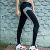 Women Sporting Leggings Athleisure Work Out Leggins Striped Silm Black Full Length Sporter Clothes Ladieswear
