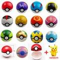 20 pçs/lote 10 pcs 7 cm Pokeballs + 10 pcs Pikachu pokébola Ação Figuras de Brinquedo