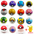 20 unids/lote 10 unids 7 cm Pokébolas + 10 unids de Poke bola Pikachu Figuras de Acción de Juguete