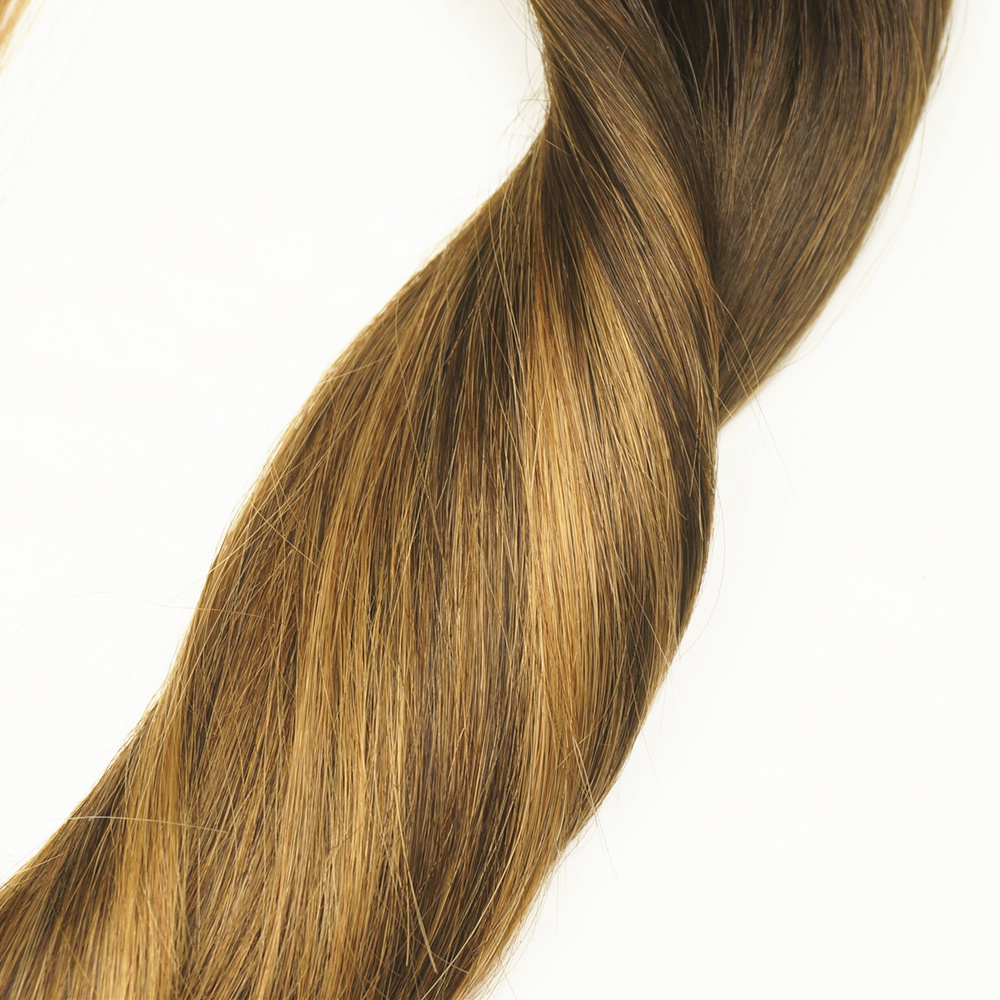 Color 226 Dark Brown Ombre Balayage Caramel Blonde Highlights