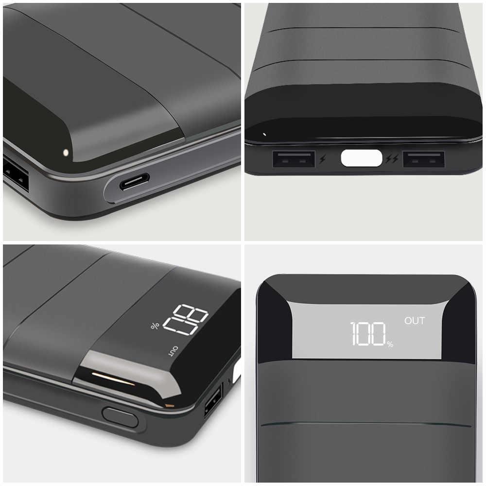 X-DRAGON güç banka 20100mAh iki USB harici pil telefon siyah taşınabilir güç banka şarj cihazı iPhone xiaomi Huawei için