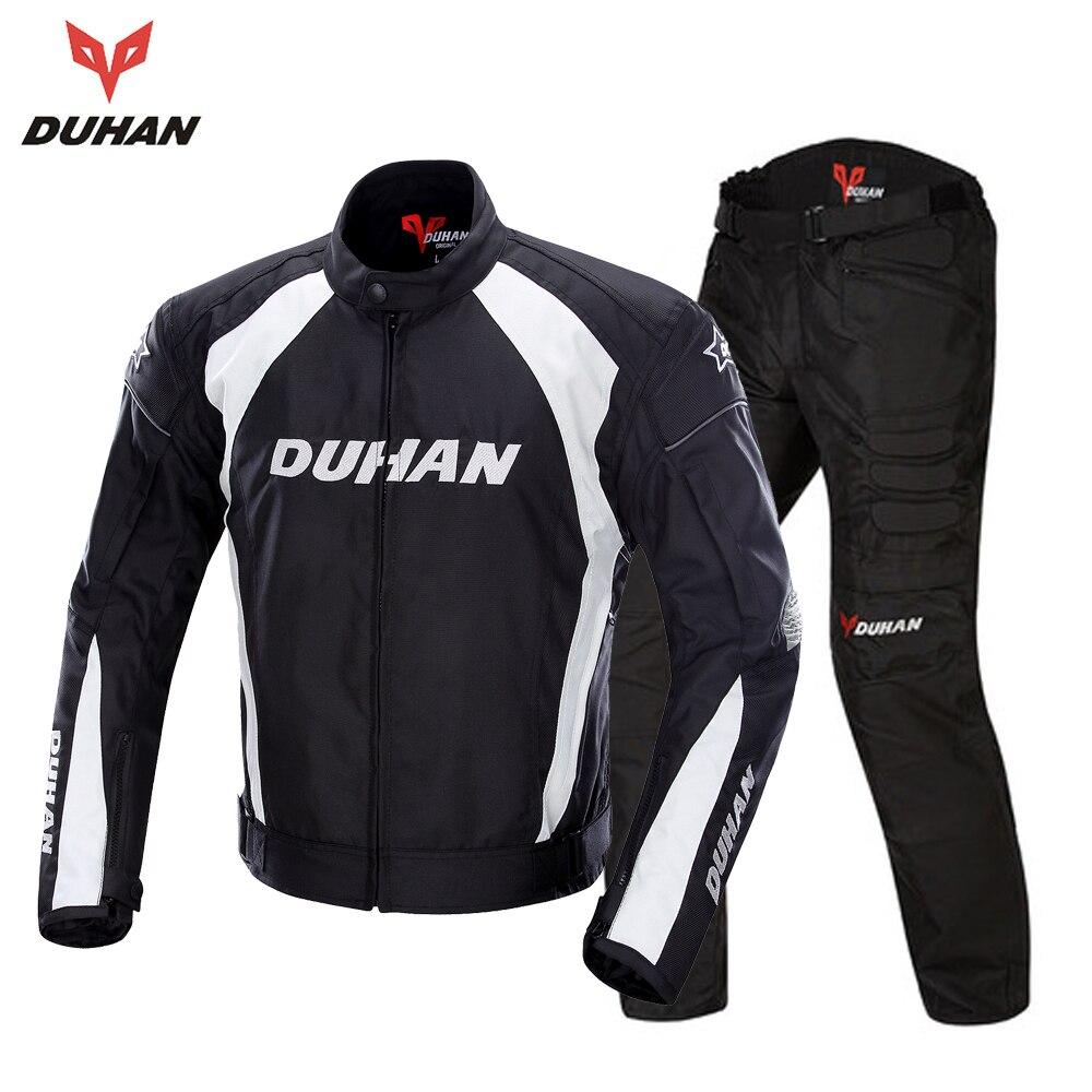 DUHAN Men's Motorcycle Jacket Windproof Riding Touring Jacket Racing Sports Jacket and Pants