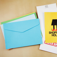 10pcs/lot 17.5*12.3cm 3 Color Double Adhesive Paper Envelope Triangle Seal Horizontal Version Of Western-Style