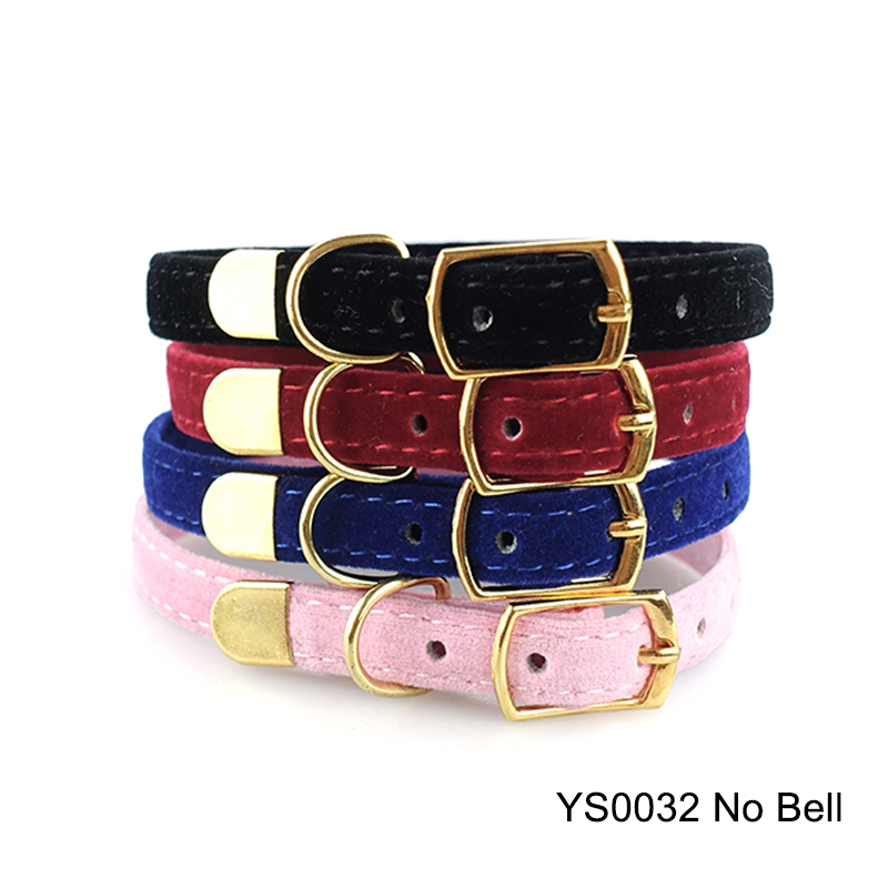 Solid Cat Collar With Bell Safety Cat Collars Adjustable Puppy Dog Collar For Small Dogs Cats Kittens Pet Collar Products YS0032 (12)