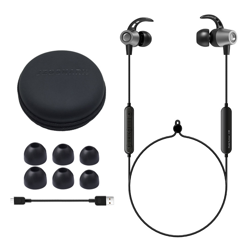 Hua Eagle C3 wireless earphone bluetooth earphones neck type sports headset is suitable for android ios bluetooth phone headset in Bluetooth Earphones Headphones from Consumer Electronics