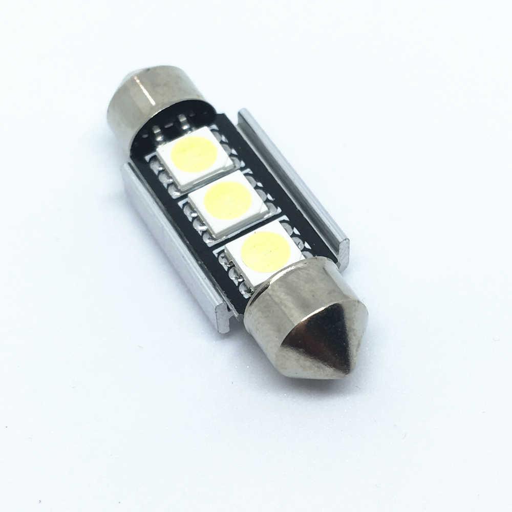 1 Pcs Mobil Interior Lampu 36 Mm 39 Mm 41 Mm SMD 5050 LED Putih Auto Lampu Interior Lampu Biru dome Memperhiasi Mobil C5W Lampu LED 12 V