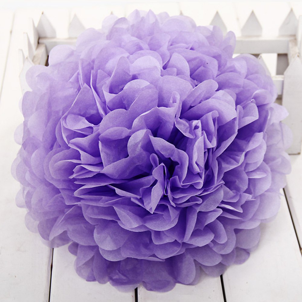 8 inch Colorful Tissue Paper Artificial Flower Ball, DIY ...