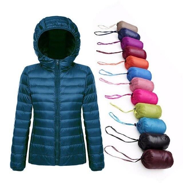 Plus Size 5XL 6XL 7XL Eiderdown Outwear Inverno Jaqueta de Inverno Para Baixo Mulheres Casaco Quente Ultraleve Pato Branco Para Baixo Casaco Feminino parka
