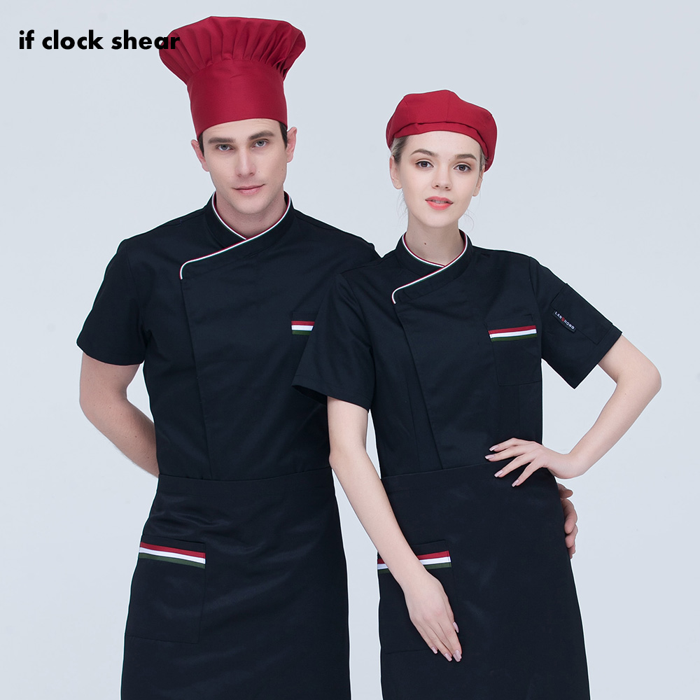 2019 New M-3XL High Quality Breathable Embroidery Chef Uniforms Restaurant Catering Bakery Cooker Clothes Chef Jackets 3 Colors