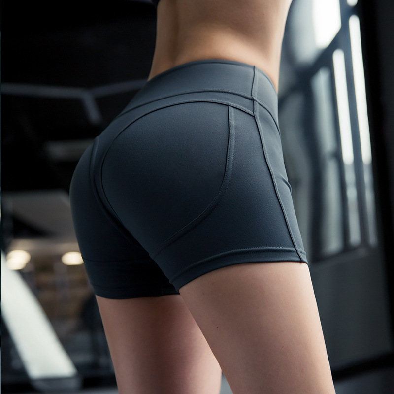 Sports Shorts Women High Waist Seamless Yoga Shorts Tights Fitness Running Elastic Shorts Workout Quick Dry Clothes For Female in Yoga Shorts from Sports Entertainment