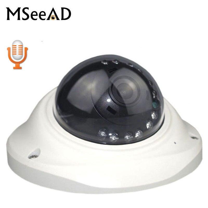 HI3516C FULL HD poe 1080 P IP Caméra 2MP dôme intérieur caméra de sécurité IP Avec Microphone IR Cut caméra de sécurité onvif android ios