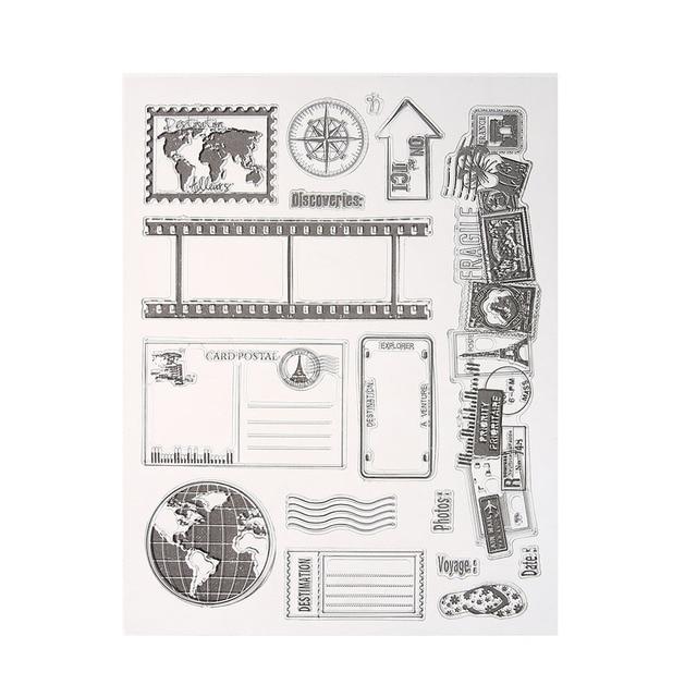 Tarjeta transparente Sellos DIY Scrapbooking Sellos de Silicona Transparente de Silicona Sellos Scrapbooking Tarjeta de Arte, Artesanía y Costura E5M1