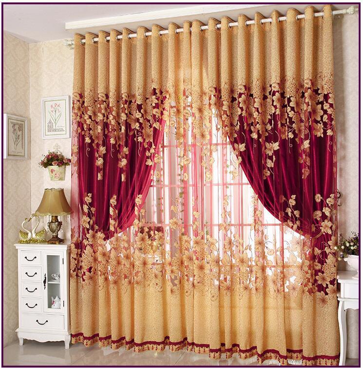{Byetee} Luxus Fenster Wohnzimmer Tüll Fenster Vorhänge Küche Fenster Vorhänge Tür Fertig European Sheer Vorhänge