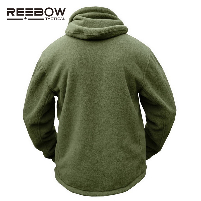 REEBOW TACTICAL Lelaki Outdoor Hiking Winter Fleece Hooded Jacket - Pakaian sukan dan aksesori - Foto 4