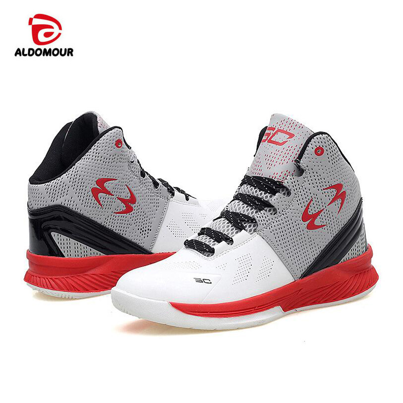 ALDOMOUR 2017 Men's High Quality Sneakers Red White PU Basketball Boots outdoor Basketball Shoes палантин venera venera ve003gwcjex2