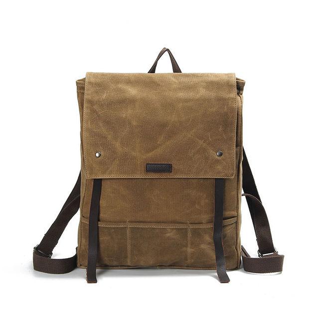 ccd29c666d Schoolbag Backpack Canvas Men Rucksack Satchel laptop Large Vintage Leather