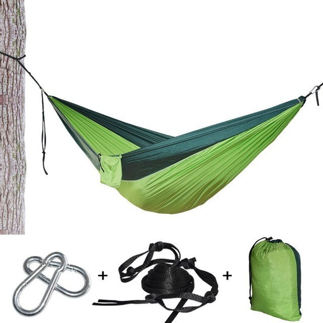 Single Double Camping Hammock Tent Lightweight Portable For Outdoor Hiking Travel Backpacking Without NET Need To Buy Separately