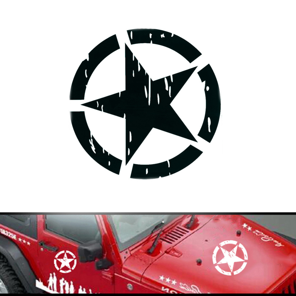 1pcs Five Pointed Star Car Decal Vinyl Graphics Side