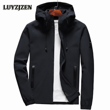 Jacket Men Zipper New Arrival Brand Casual Solid Hooded Jacket