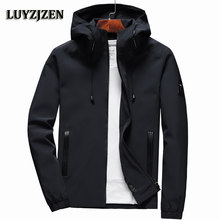 Jacket Men Zipper New Arrival Brand Casual Solid Hooded Jacket Fashion Men's Outwear Slim Fit Spring and Autumn High Quality K11(China)