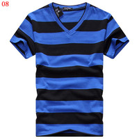 Man Spring 2014 Free Shipping Short Sleeve T Shirts Men S Fashion Color Changing Cotton T
