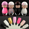 New Fashion Cute Baby Doll Design Nail Art Polish Bright Glitter Pure Color Varnish Beauty Makeup Tool
