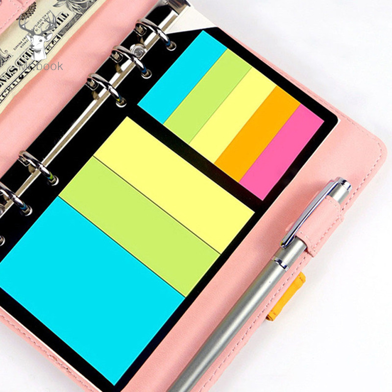 B5 <font><b>A5</b></font> A6 Sticky Notes Planner Schedule <font><b>6</b></font> <font><b>Holes</b></font> <font><b>Binder</b></font> Dairy Memo Divider Sticker for Loose Leaf <font><b>Binder</b></font> Bookmark Spiral Notepad image