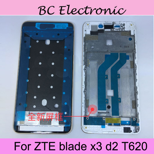White LCD Faceplate Frame Front Middle Frame Housing Battery Door Back Cover Housing Case For ZTE blade x3 d2 T620