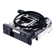 Uneatop ST7223US 2.5+3.5 inch Dual Bay 2-bay SATA HDD Rack Enclosure Silver Door
