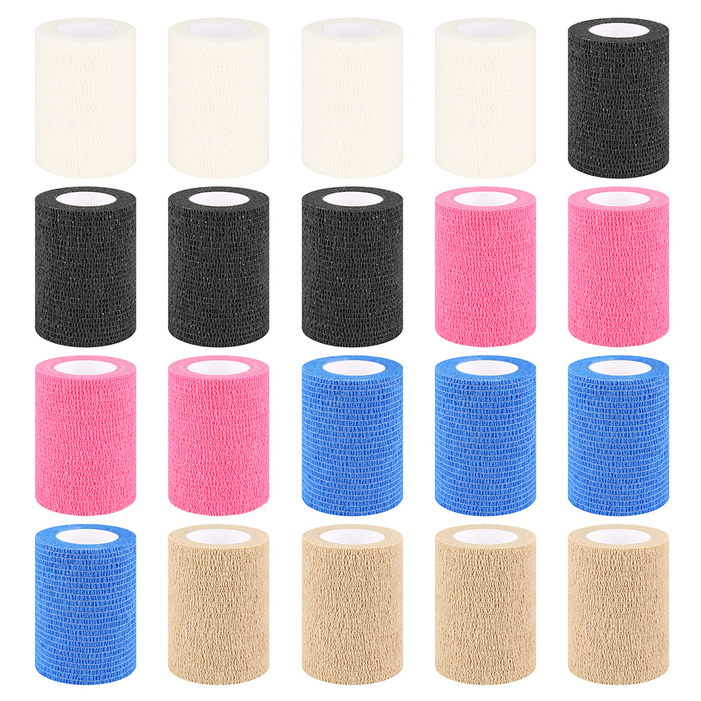 7.5CM*5M Colourful Emergency Self-Adhesive Elastic Soft Clean Bandage First Aid Medical Healthy Care Treatment Gauze Tape