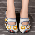 Cheap Summer Womens Grey Flat Sandals Sale Genuine Leather Ladies Slip On Retro Handmade Women Flower Fish Mouth Black Shoes