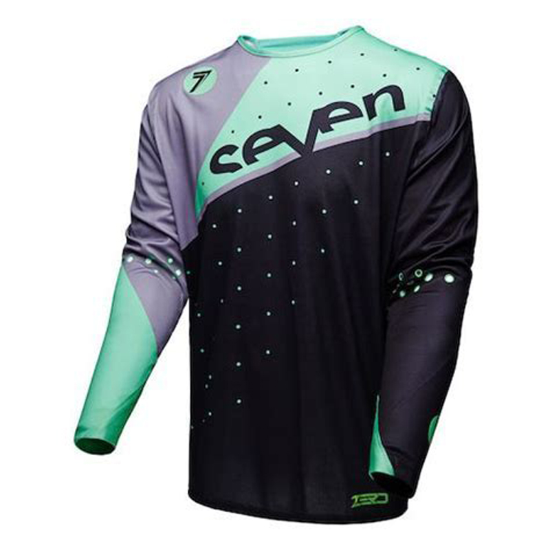 New Seven Motocross Jersey Downhill Mountain Bike DH Shirt MX Motorcycle Clothing Ropa For Men Brearhable MTB T Shirt in Cycling Jerseys from Sports Entertainment