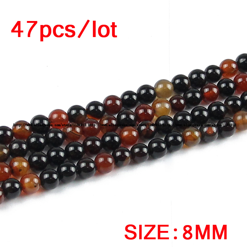 JHNBY Dream agata Carnelian Natural Stone Round Loose beads 4/6/8/10 - Bisutería - foto 4