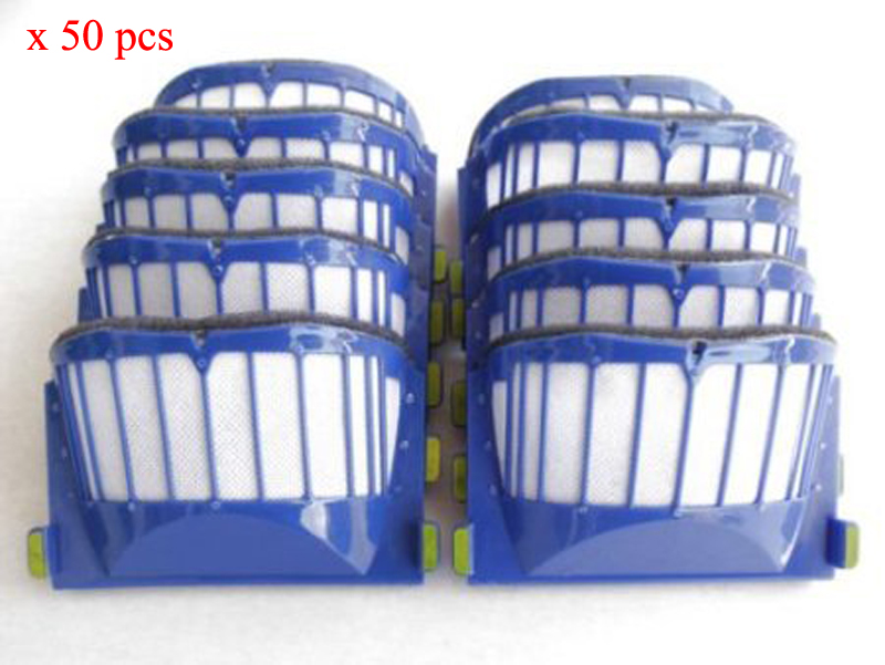 50pcs AeroVac Filter For IRobot roomba 500 600 Series 536 550 551 552 564 595 630 650 etc,robot vacuum cleaner Replacement parts битоков арт блок z 551