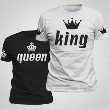 Elegantné tričká King & Queen pre páry